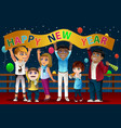 people celebrating new year vector image