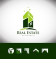 Real estate building house roof logo icon set vector image