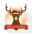 reindeer animal christmas icon vector image vector image