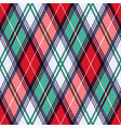 rhombic tartan seamless texture in red and vector image vector image