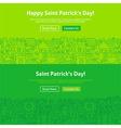 Saint Patrick Day Line Art Web Banners Set vector image