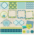 Scrapbook design elements - vintage tile with fram vector | Price: 1 Credit (USD $1)
