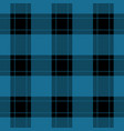 seamless black blue tartan with red stripes vector image