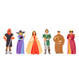 set of royal characters vector image vector image
