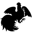 Silhouette of a rooster vector image