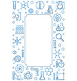 vertical creative frame with chemistry vector image