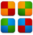 Web linen app icons vector image vector image