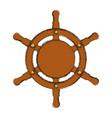 wooden boat helm vector image