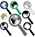 world magnifying glasses vector image vector image