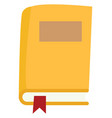 yellow book on white background vector image vector image