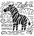 Zebra african animals background vector image vector image