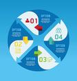 Modern infographics circle design options banner vector image