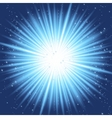abstract blue rays vector image