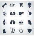 black anatomy icon set vector image