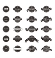 Hipster style badges set vector image