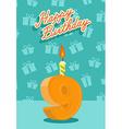 9 year Happy Birthday Card vector image vector image