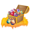 A wooden box with easter eggs vector | Price: 1 Credit (USD $1)