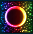 abstract background with bright neon circle vector image vector image