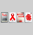 aids world day typography design for cover vector image