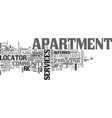 apartment for rent text word cloud concept vector image vector image