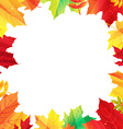 Autumn Border With Leaves vector image vector image