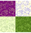 background with underwater animals vector image vector image