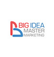 big idea marketing company icon template vector image