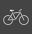bike silhouette icon on grey background bicycle vector image vector image