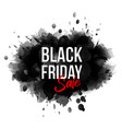 black friday inscription on abstract expressive vector image
