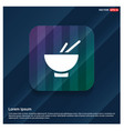bowl and chopsticks icon vector image