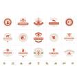 butcher shop logos set good vector image vector image