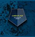 camouflage dark blue background vector image vector image