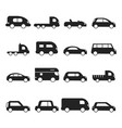 car silhouettes icon type of transport minivan vector image vector image