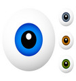 cartoon eyes isolated on white cartoon eyes in 4 vector image