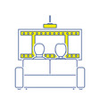 cinema sofa icon vector image vector image