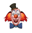 circus clown face vector image
