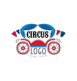 circus logo original design emblem for amusement vector image