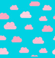 cloud pattern background cartoon pink and blue vector image