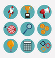 collection digital marketing elements vector image