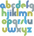 Colorful lowercase letters with rounded corners vector image vector image