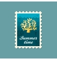 Coral stamp Summer Vacation vector image vector image