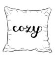 Cozy Brush hand lettering vector image vector image