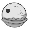 creepy eyeball icon monochrome vector image vector image