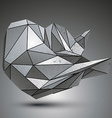 Deformed sharp metallic object created from vector image vector image