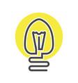 economic light bulb isolated icon vector image