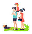 family father mother and son play with best vector image