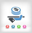 financial services - dollars vector image
