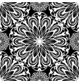 floral black and white seamless mandala vector image