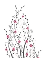 flowers and branches vector image vector image