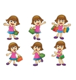 girl shopping vector image